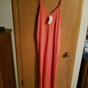 Coral colored Maxi Dress Large